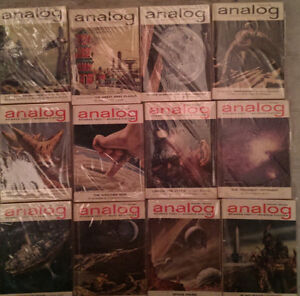 Analog Science Fiction; Complete Year Set 1962 (12 issues)