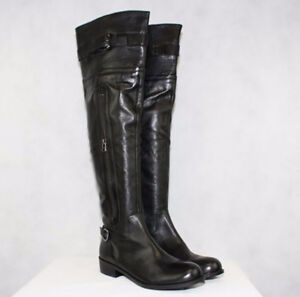 New, Black Leather Over the Knee, Steve Madden Boots