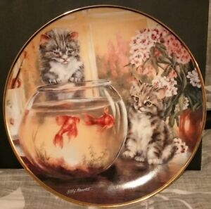 Franklin Mint Cat Tales Collector Plate by Lesley Hammart