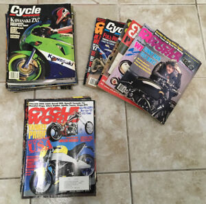 Great Collection of 63 Classic Motorcycle Magazines: 1980s-2000s