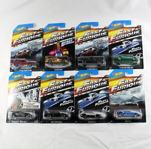 Fast and Furious Hot Wheels 2015 Complete Set of 8