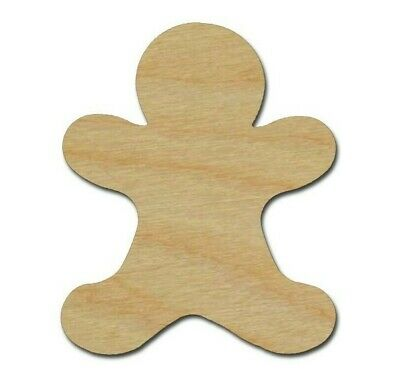 Gingerbread Man Shape Unfinished Wood Cutouts DIY Crafts Variety of Sizes - Gingerbread Crafts