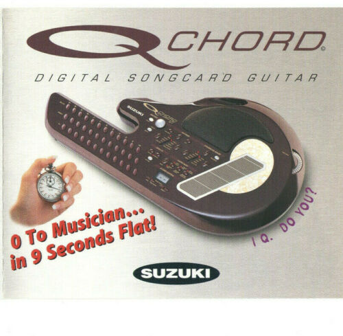 2001 SUZUKI Q CHORD BROCHURE! INTRODUCING QCHORD! SPECIFICATIONS! FEATURES! PICS