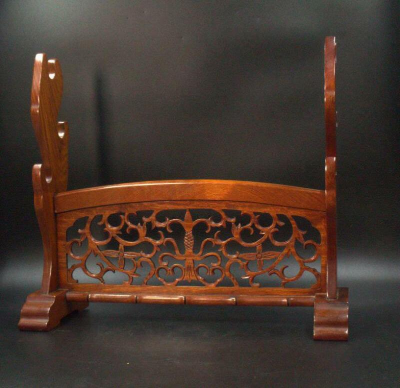 Japanese wooden Sword Rack Openwork SWR232