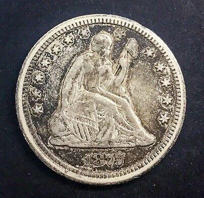 1877 CC CARSON CITY QUARTER DOLLAR 25 CENTS NICE ORIGINAL COIN