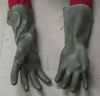 10 ABC Gummihandschuhe NVA Handschuhe Fetisch ABC Schutzanzug Gummi Latex DDR