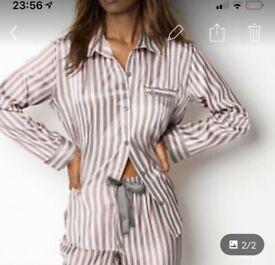 New Victoria secret blue striped pyjamas w tags