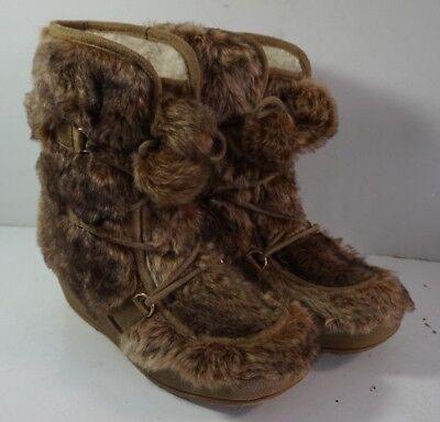 Furry Winter Boots (Canyon Blues Faux Fur Sheepskin Lined Winter Furry Boots Sz 9.5 Bigfoot)
