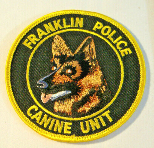 FRANKLIN POLICE~ CANINE UNIT~NEW JERSEY FABRIC PATCH