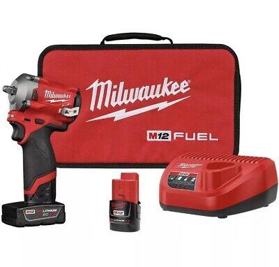 Milwaukee 2554-22 M12 FUEL Stubby Cordless 3/8