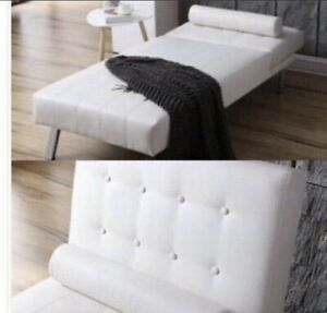 White tufted chaise for sale $350