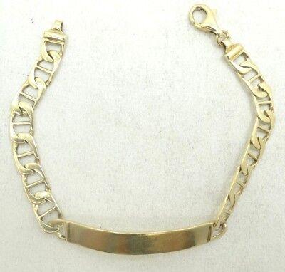 Handsome 14K Y Gold Mariner/Anchor Link ID Bracelet 7.5 Inch 12.8 Grams D3575
