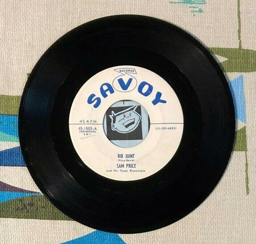 Sam Price His Texas Blusicians 45 Rib Joint 1956 Blues R B VG  - $18.00