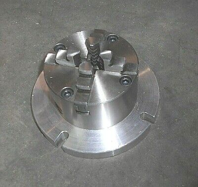 4 Jaw Self-centering Lathe Chuck With Mount Plate Mw
