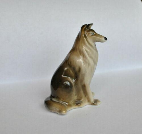 PORCELAIN Figurine DOG COLLIE.LARGE.GRAY