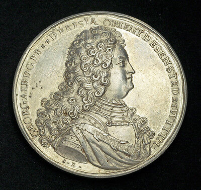 Click now to see the BUY IT NOW Price! 1708 EAST FRIESLAND GEORGE ALBERT.  & IMPORTANT SILVER MEDAL. 78GM