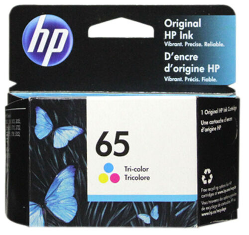 HP #65 Color Ink Cartridge 65 N9K01AN NEW GENUINE