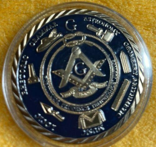Masonic Free Mason Challenge Coin Freemasonry Faith Hope Charity Collectible