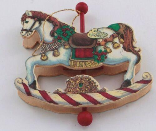 Vintage Wood Horse Carousel Christmas Ornament