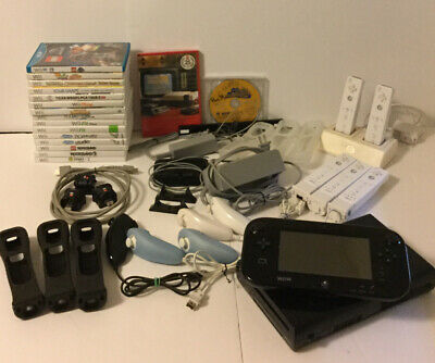 Nintendo Wii U 32GB Mario Kart 8 Deluxe Bundle Console &16Extra Games Plus More