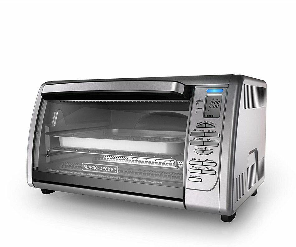 BLACK DECKER Countertop Convection Toaster Oven Silver CTO63