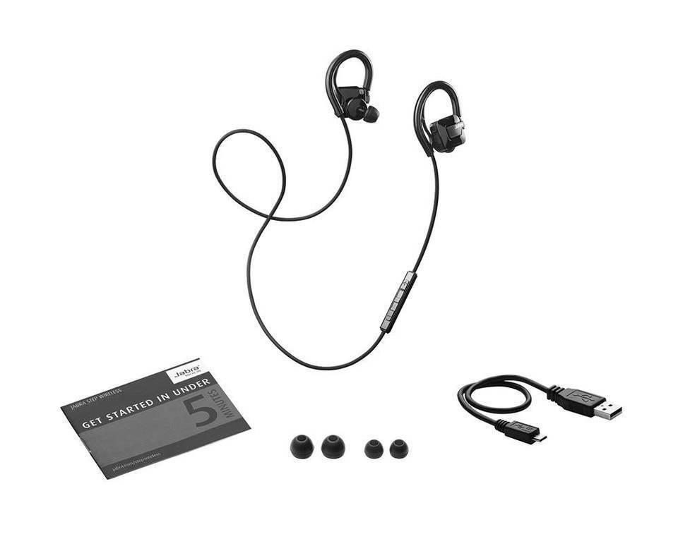 Jabra Step Wireless Bluetooth Stereo Earbuds Over-ear Headphones - Black