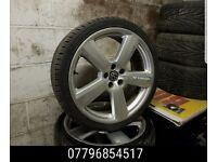 19 inch Audi S Line Alloy Wheels & Tyres - 5x112 vw mk5 a4 a3 golf rs4 a6 a8 -
