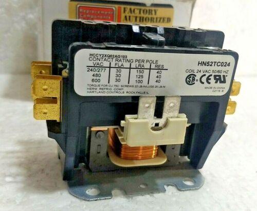 Tyco Electronics HN52TC024 CONDENSER Contactor 2-Pole 480V