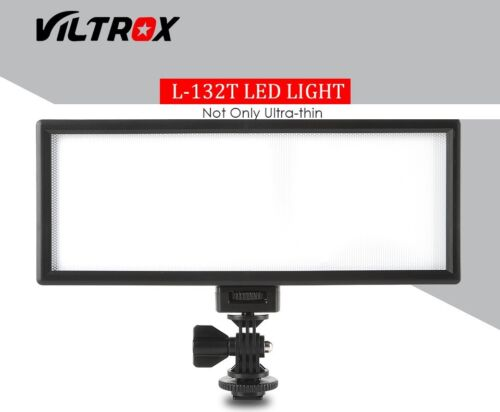 Viltrox L132T Dimmable LED Video Studio Lighting Panel fr DSLR Camera Ultra Thin