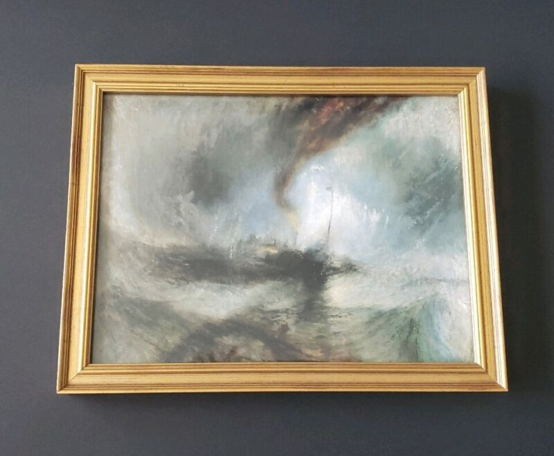 Joseph Mallord William Turner - Snow Storm - Print Framed de Young Museum of SF