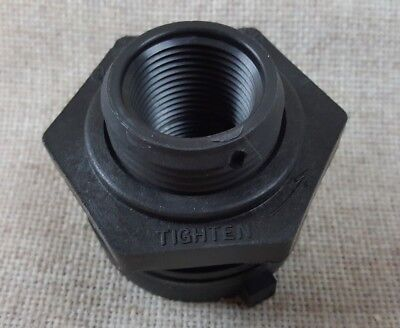 New 34 Norwesco Fluid Bulkhead Tank Fitting  Black 60401