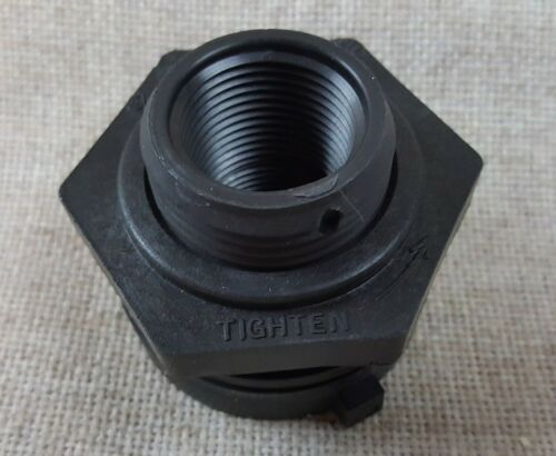 "New 3/4"" Norwesco Fluid  Bulkhead Tank Fitting  * Black  #60401  Open Box"