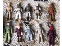 Collection of 10 Vintage Star Wars Figures and MiniRig (1977 to 1984)