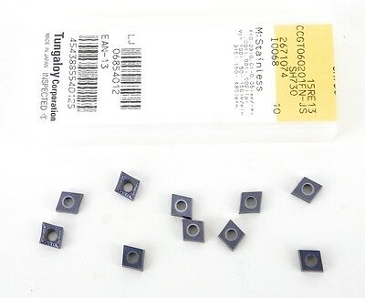 Tungaloy Carbide Inserts Ccgt21.50fn-js Sh730 Ccgt060201fn-js 10 Pcs