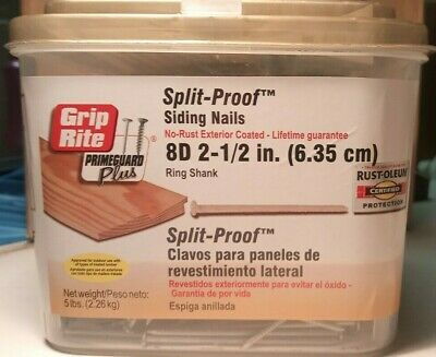 Grip Rite Primeguard Plus Split-proof 8d 2-12 In. Ring Shank No Rust Ext Coated