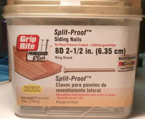Grip Rite PrimeGuard Plus Split-Proof 8D 2-1/2 in. Ring Shank No Rust Ext Coated
