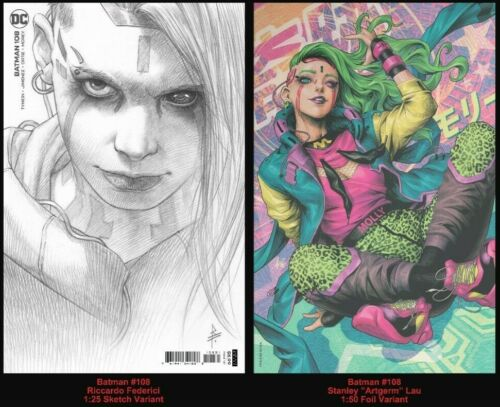 Batman # 108 Artgerm FOIL Cover 1:50 & Federici 1:25 Variant 1st Miracle Molly
