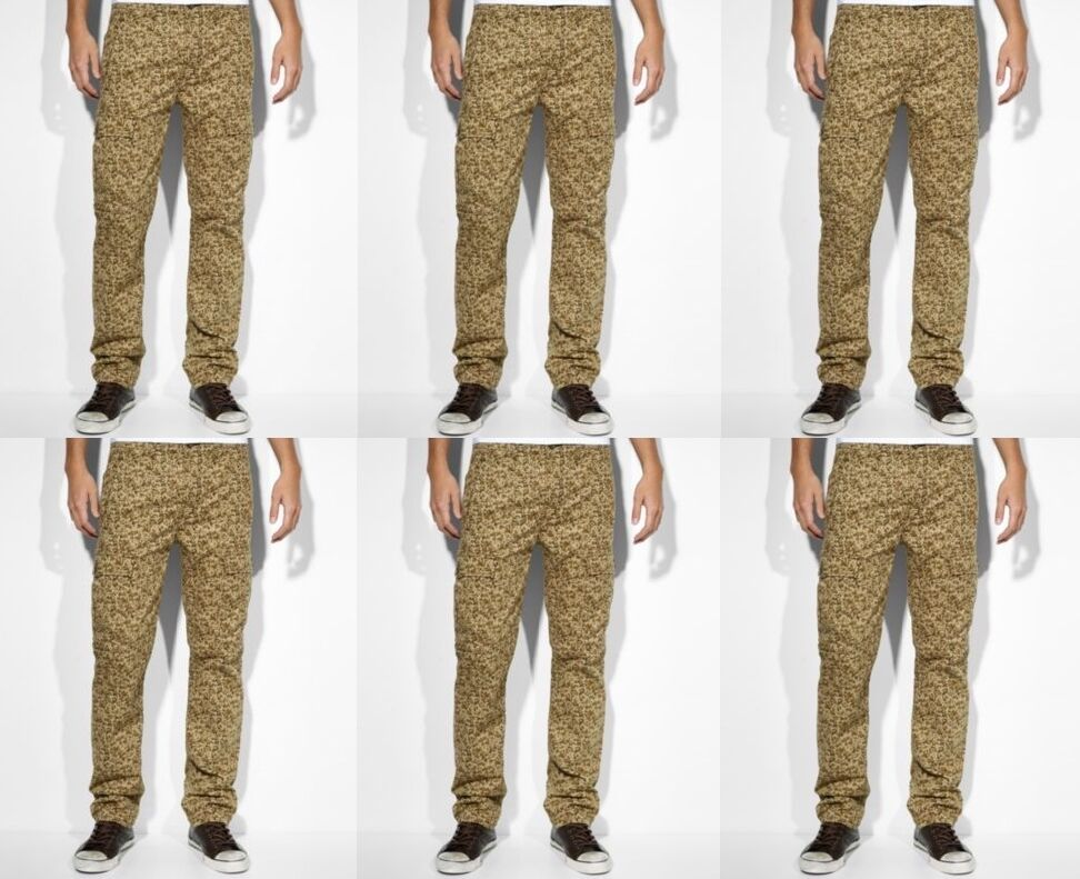 Levi's men's slim straight cargo pants jeans camouflage $68
