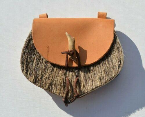 Vintage Austrian Bavarian leather belt purse Oktoberfest horn Accessories