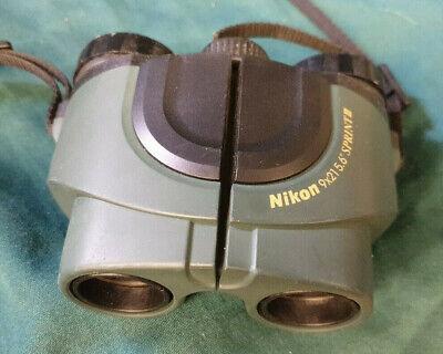 Nikon Sprint III Binoculars Green with Nikon soft case 9 x 21 5.6deg (stk366)