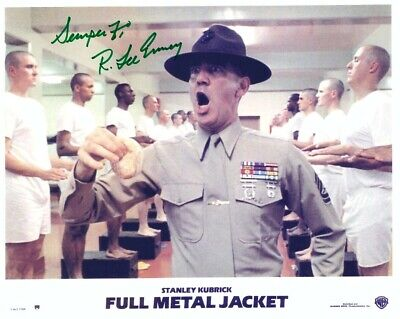 R LEE ERMEY Signed FULL METAL JACKET 8x10 W/ Coa GUNNY FINDS PYLE S JELLY DONUT - $34.85