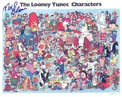 NOEL BLANC Signed LOONEY TUNES CHARACTERS 8x10 W/ Coa CLASSIC COLOR ANIMATION - $31.85
