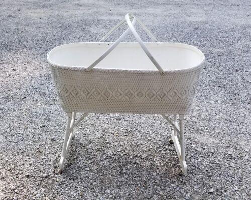 RED-MAN Vintage Baby Crib/Bassinet/Basket