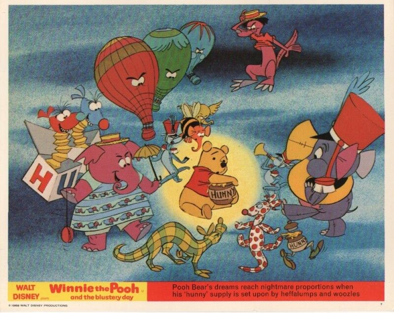 WINNIE THE POOH and the BLUSTERY DAY lobby card print # 2