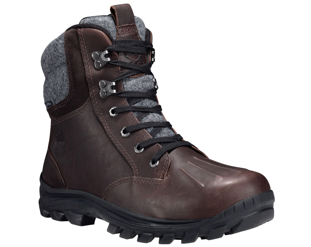 Timberland Men's Chillberg Mid Brown Leather Waterproof Boots TB0A186R