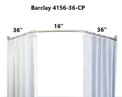 36-Inch Barclay 4156-36-CP Neo Angle Shower Rod