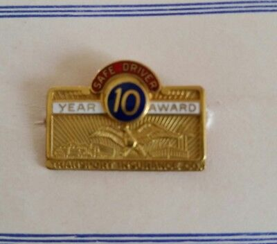 Transport Insurance Co. 10 Year Safe Driver Award Pin