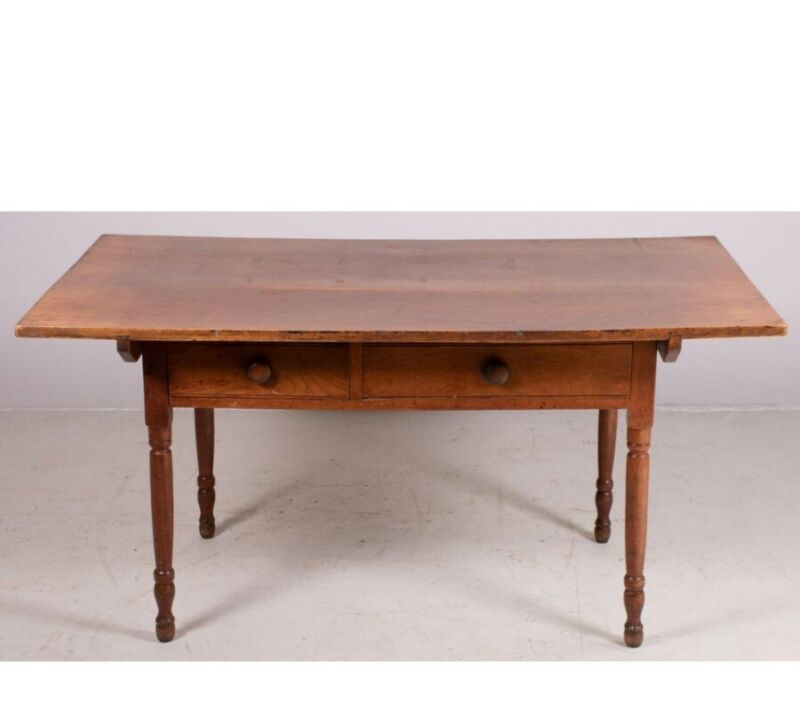 Antique Walnut Farm Table early 19th century