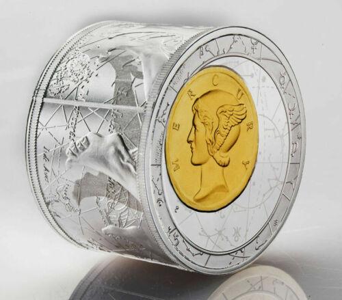 Niue 2014 25$ Silver Mini Fortuna Redux Mercury First Cylinder Shape Proof Coin