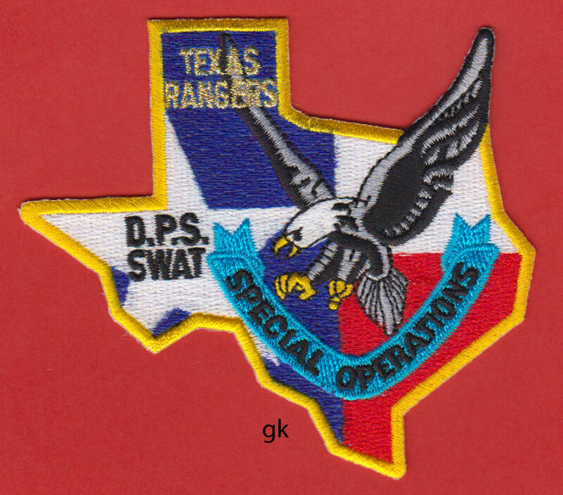 TEXAS RANGERS  DPS SWAT POLICE STATE SHAPE SPECIAL OPERATIONS SHOULDER  PATCH